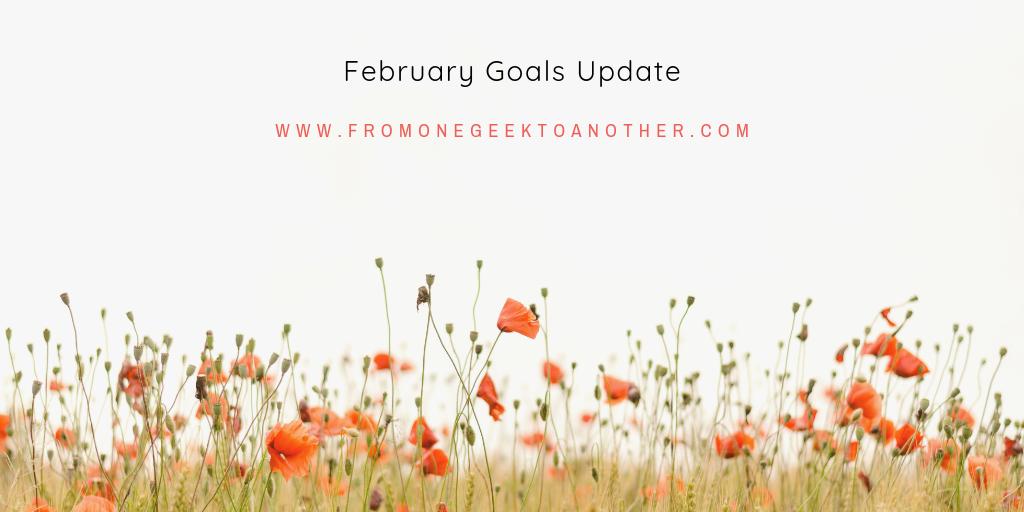 February Goals Update fromonegeektoanother.com